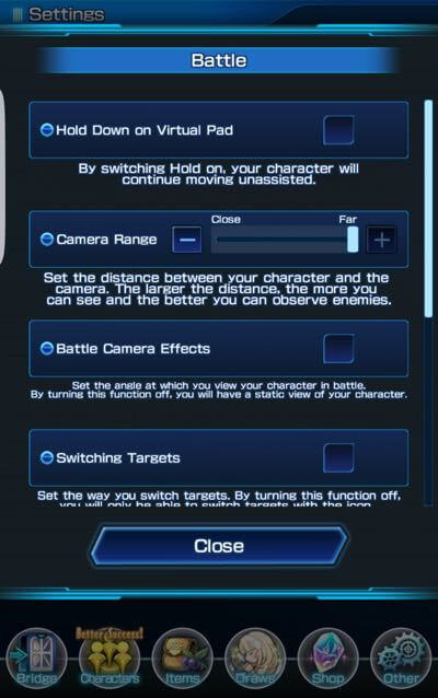 Battle Settings: Camera Range + Battle Camera Effects